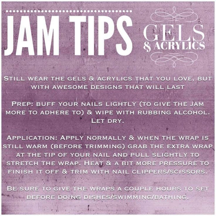 Yes, Jams work on gel and acrylic nails, too! See all of our styles at https://trivgirl.jamberry.com/us/en/shop