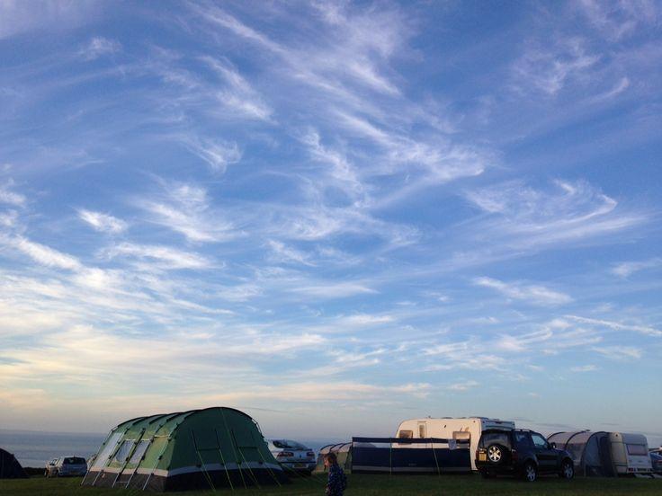 Woolacombe camp sky