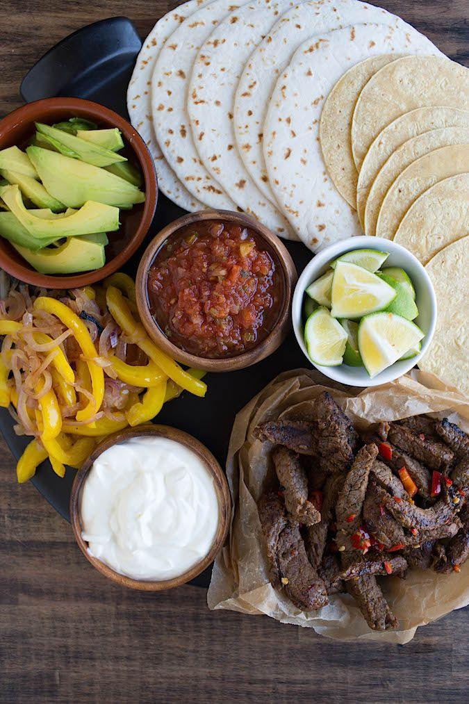 Spicy Margarita Beef Fajitas