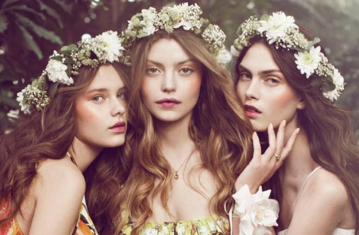 *for hair down, minus the flower crown (I want a touch of blossom, not a whole crown, and I'm wearing a veil)