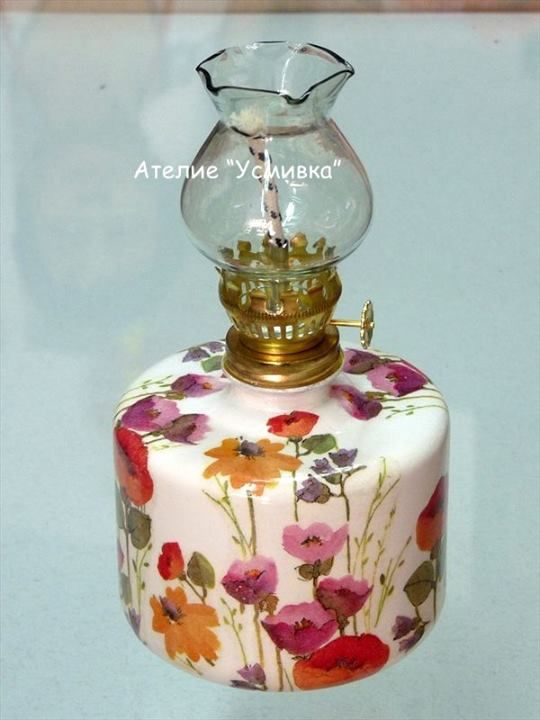 lamp for summer nights - #decoupage