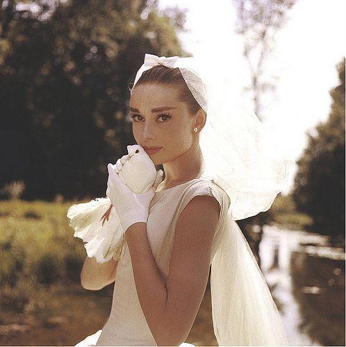 Audrey Hepburn Wedding Photo.  perfection.