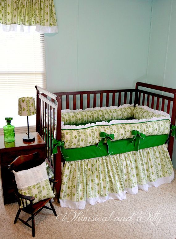Gone With the Wind inspired Baby Bedding - Scarlett O'Hara Green Dress - Green and White Crib Bedding on Etsy, $395.00