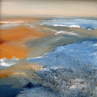 Nelly Van Nieuwenhuijzen 'The sea touching the coast 1' Painting Acrylic, 2011 - Premiere Artist Portfolio - absolutearts.com
