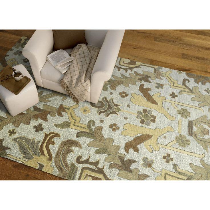 handtufted felicity craftsman silver wool rug 9u00276 x 13u00270 by bombay home