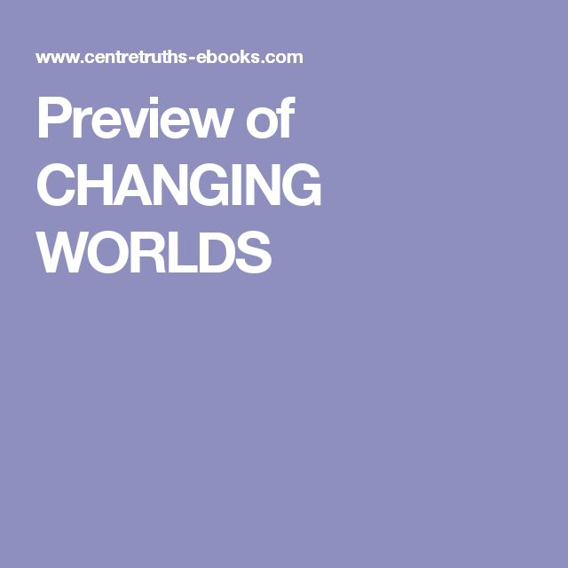 Preview of CHANGING WORLDS