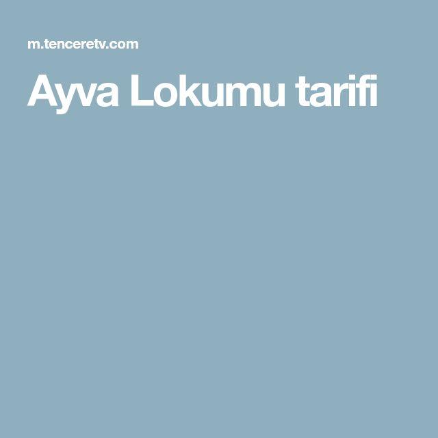 Ayva Lokumu tarifi
