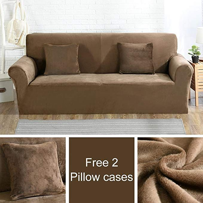 Sky Hawk Plush Fabirc Sofa Cover Stretch Seater Covers Couch Cover