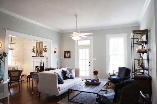 Fixer Upper HGTV- Magnolia Homes- Sherwin Williams Silver Strand paint color