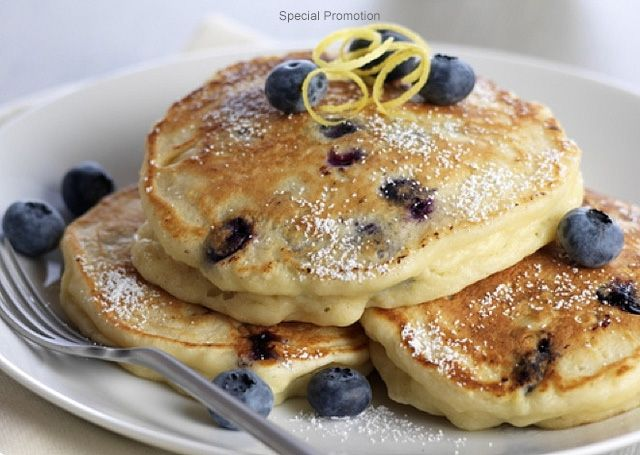 Lemon Ricotta Pancakes Paired with Zonin Prosecco