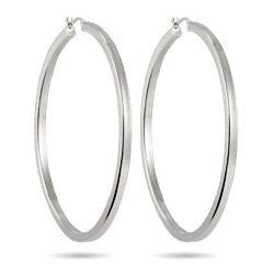 """2.5"""" Box Cut Hoop Earrings $26 #hoopearrings"""