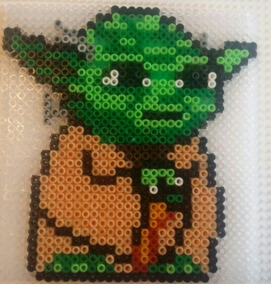 star wars yoda hama mini perler bead beads pinterest perler beads hama mini and minis. Black Bedroom Furniture Sets. Home Design Ideas