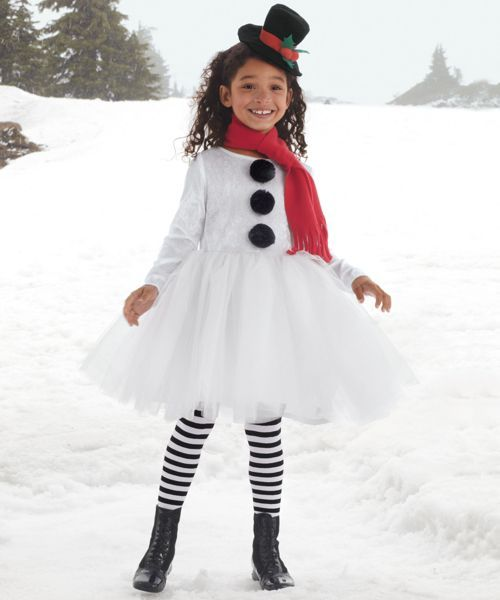 sweet snowman girls costume