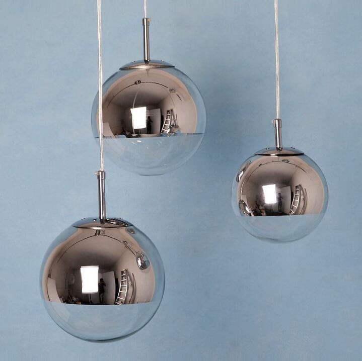 Mirror Ball Tom Dixon Chandelier Single Head 15CM/20CM/25CM/30CM Mirror  Ball Lamp Modern Pendant Lights PL161
