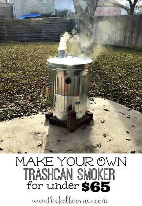 Step by step photos to make your own trashcan smoker for under $65 #diy #weekendproject The Ultimate Party Week 37