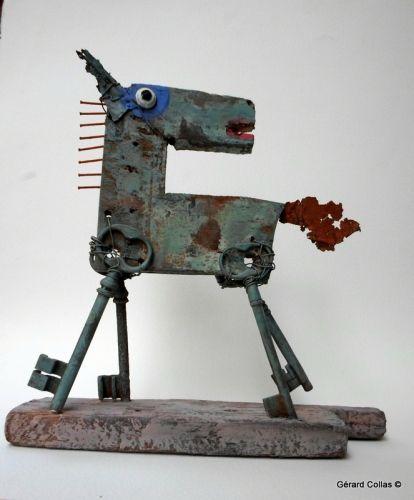 gérard collas,cheval ,assemblage