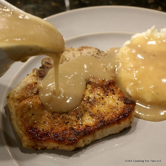 Old fashion stove top fried pork chops with gravy. Sometime the old way is the best way.