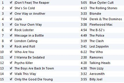 70's Rock Workout Playlist