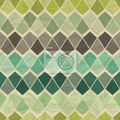 Fototapete seamless retro geometrischen muster - geometrisch • PIXERS.de