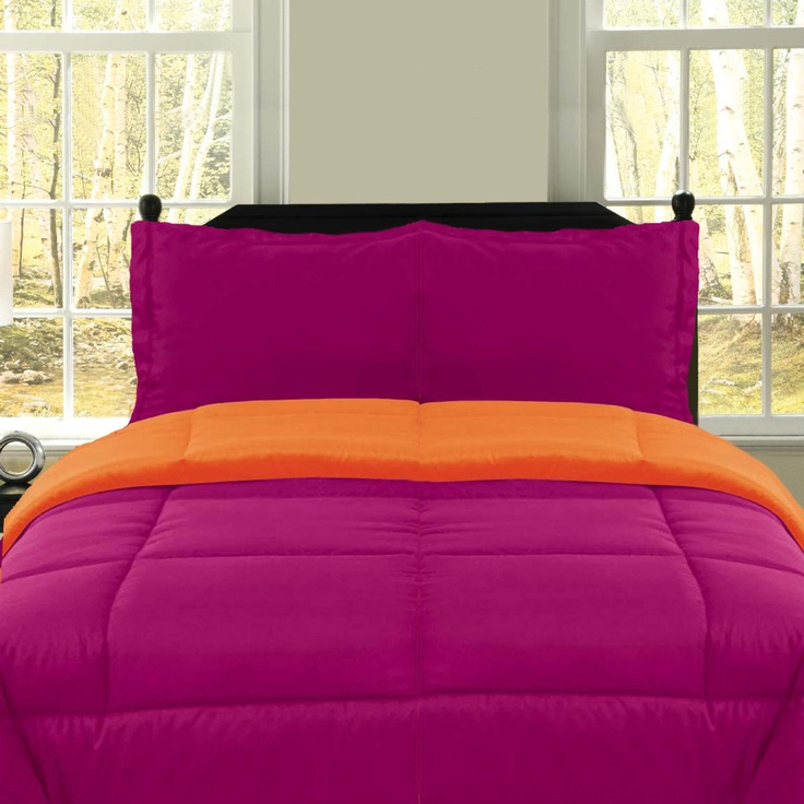 77 best color pink orange images on pinterest for Fuschia bedroom ideas