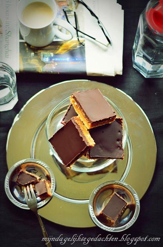 mijn dagelijkse gedachten: Caramel Bars / Карамельное Пирожное