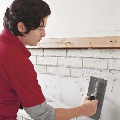 Photo: Kolin Smith | thisoldhouse.com | from How to Tile a Fireplace Surround. Might be better to just pay the extra $ and be done with it