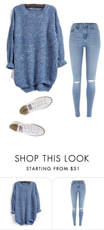 """""""Untitled #23"""" by ijeomaokeke ❤ liked on Polyvore featuring River Island and Converse"""