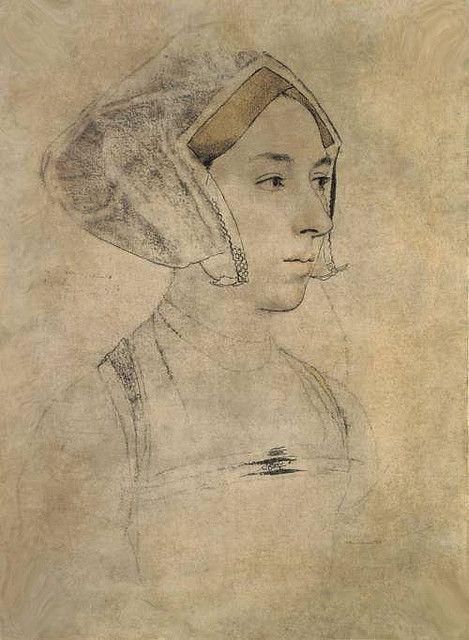 Anne Boleyn sketch by Holbein by rosewithoutathorn84, via Flickr