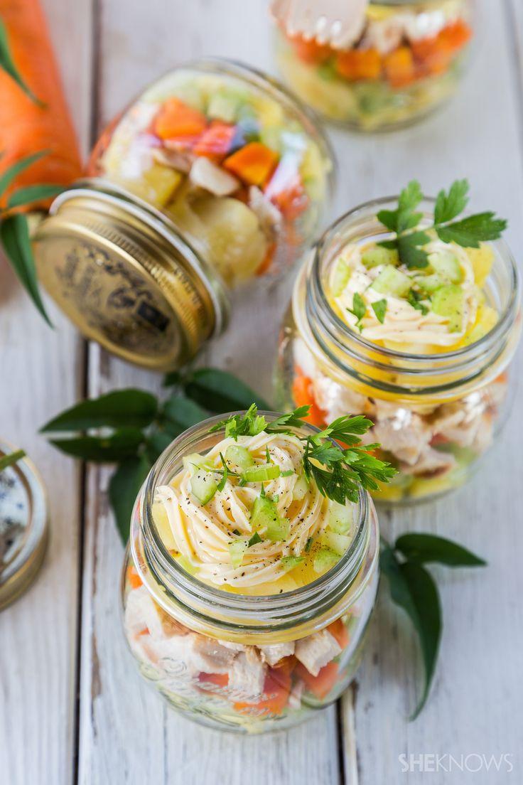 Mason jar pineapple chicken potato salad