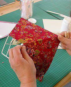 Faire soi-même son abat jour (carcasse et habillage) DIY abat jour (fabric lamp…