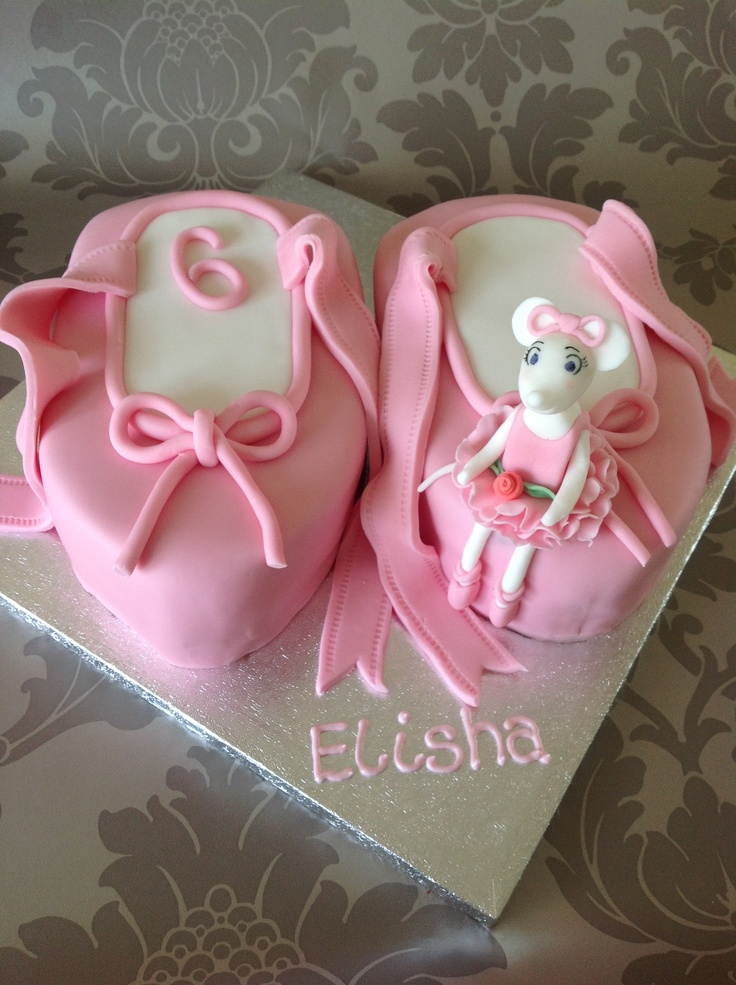 17 best images about 6th birthday cake and extras on for Angelina ballerina edible cake topper decoration sale