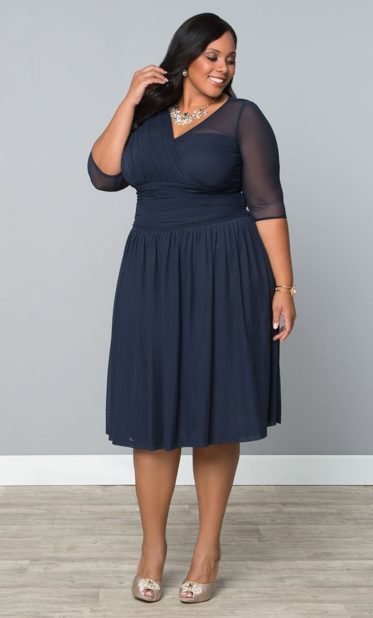 our plus size modern mesh dress is the perfect wedding