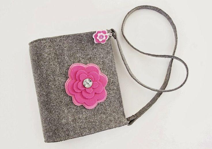 If You like flowers... - felt bag