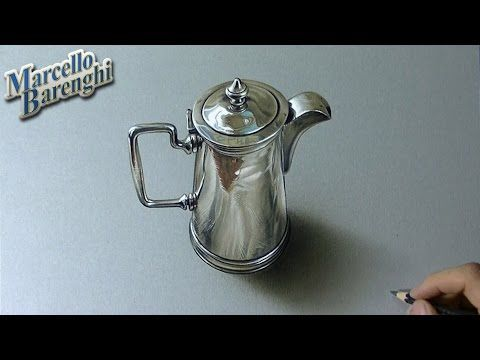 Silver pitcher - drawing - Marcello Barenghi