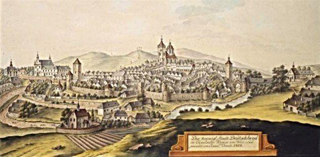 View of Německý Brod from 1813