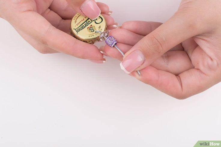 3 Ways to Make Bottle Cap Earrings - wikiHow