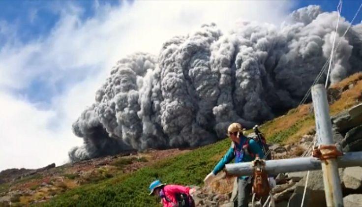 japanese mt. ontake volcano eruption