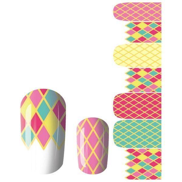 Wonderful 14Pcs Acrylic Nail Art Patch Polish Tips Decals Sticker JQ014