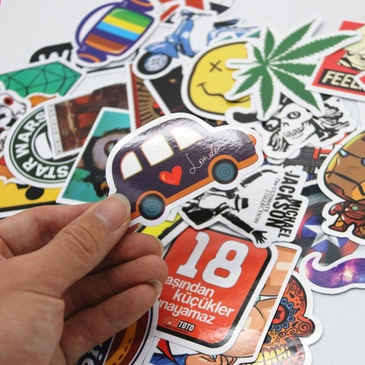 100pcs / set Graffiti Sticker Car Styling Skateboard