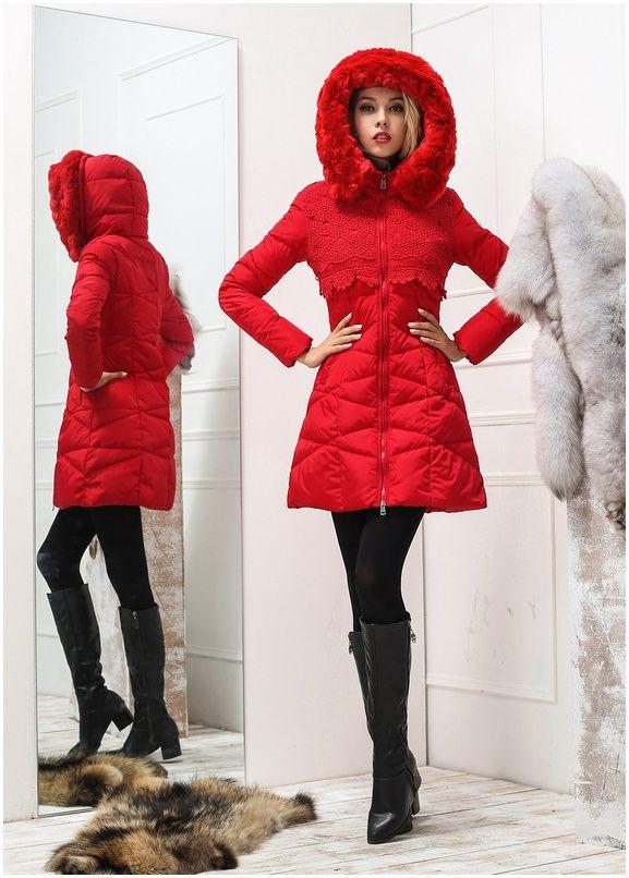 la boutique du moncler manteau femme doudoune fourrure rouge chine