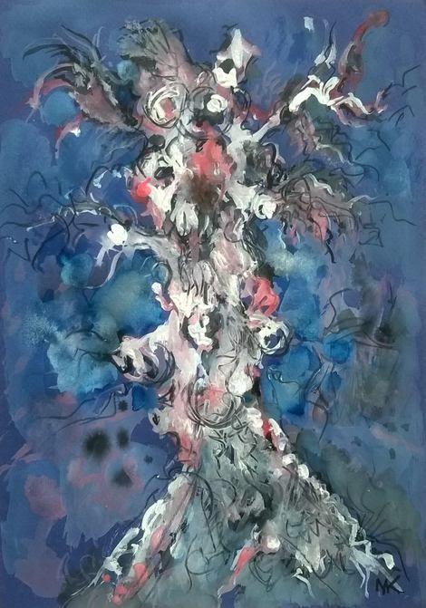Mihaela Marilena Chitac, WEIRD TREE on ArtStack #mihaela-marilena-chitac #art