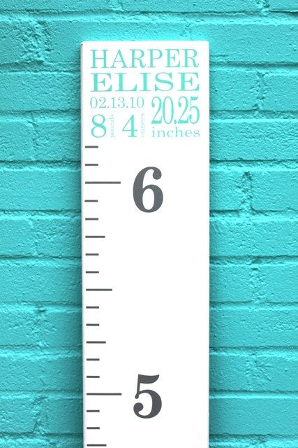 DIY Growth Chart Ruler AddOn  Custom by LittleAcornsByRo on Etsy, $8.00