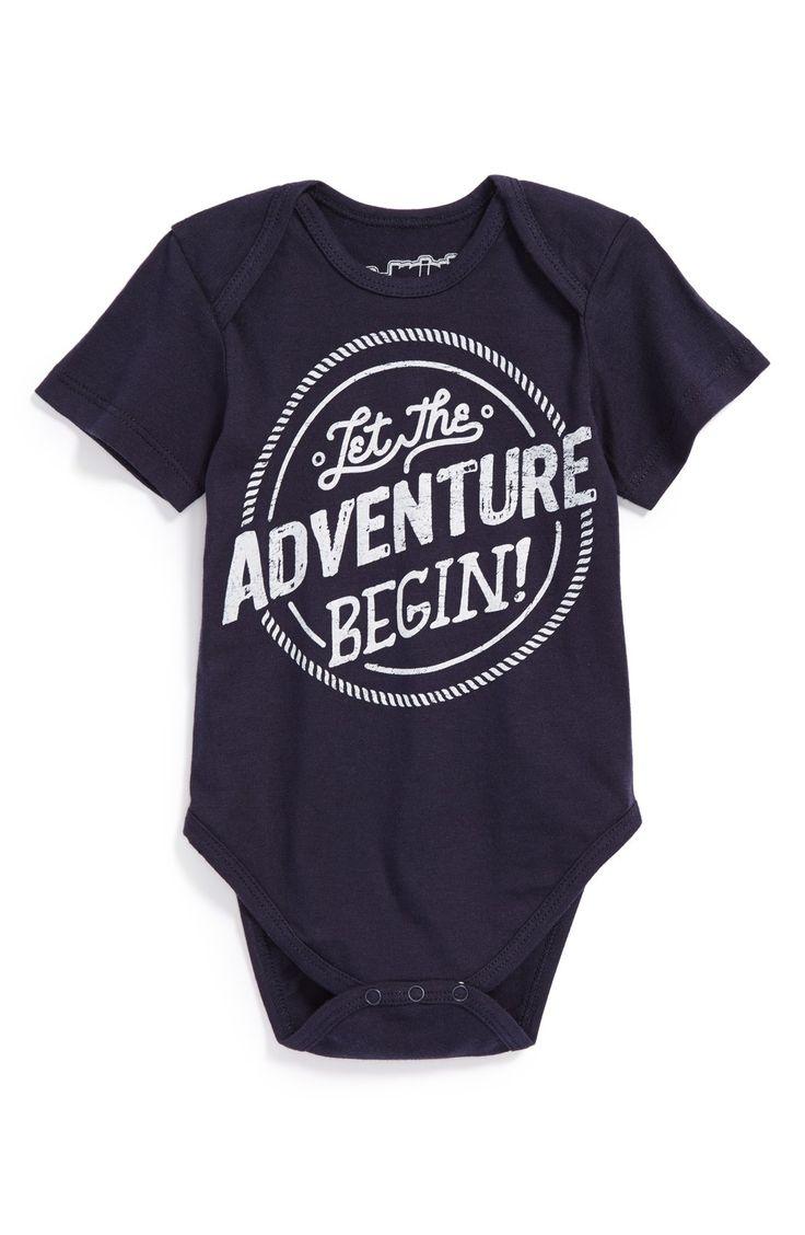 Let the adventure begin! Such a cute baby onesie.