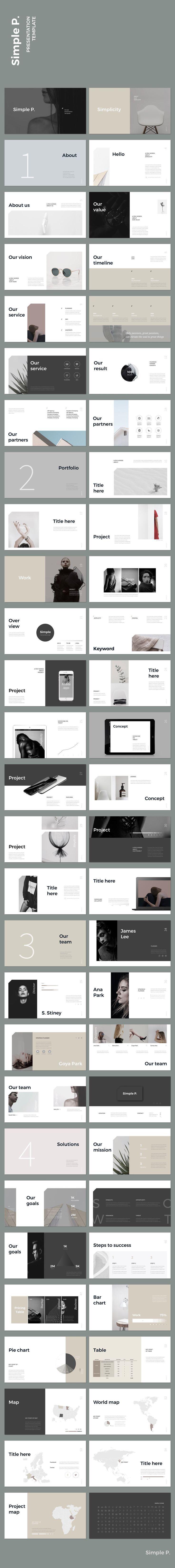 Simple & Minimal #keynote #presentation #simple #minimal #portfolio #business #marketing