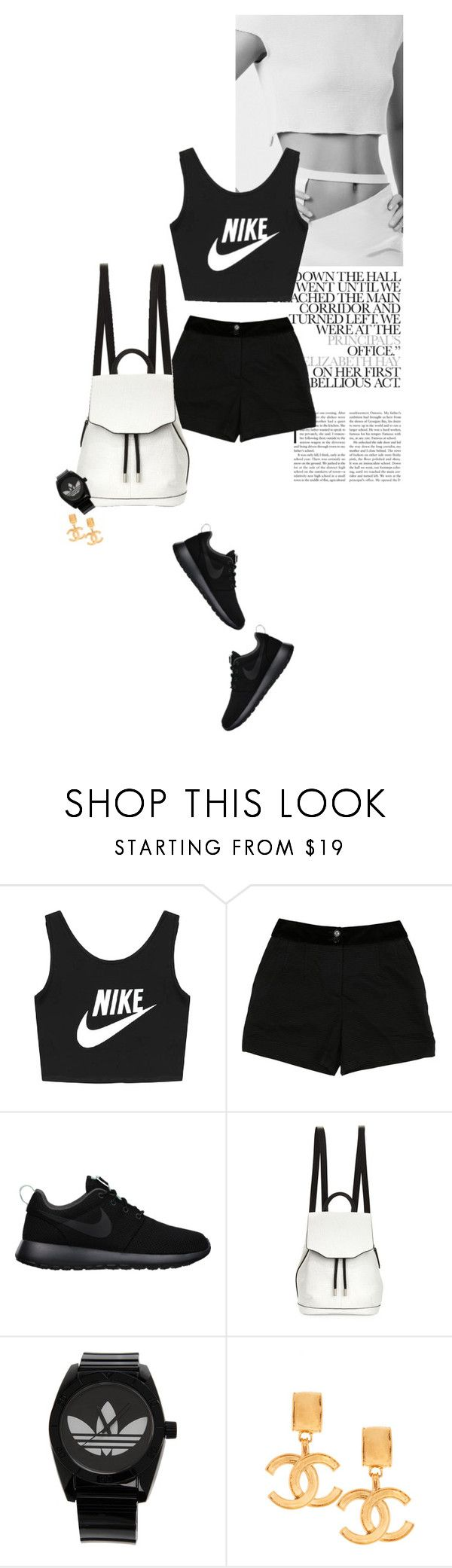 """""""sweat"""" by rosa-loves-skittles ❤ liked on Polyvore featuring NIKE, D&G, rag & bone, adidas and Susan Caplan Vintage"""