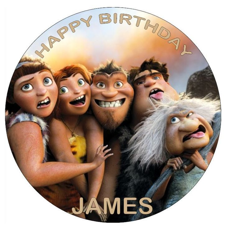 The+Croods+7.5+Edible+Cake+Toppers+by+Personalisethat+on+Etsy,+£2.99