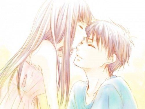 Anime Couples Images Sawako X Kazehaya LOVE Wallpaper And Background Photos
