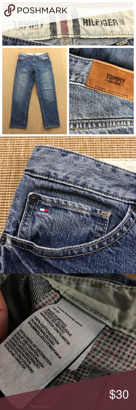 Tommy Hilfiger Jeans Size 32 X 30 Men's Straight Mens Vintage Tommy Hilfiger Jeans Size 32 X 30 Men's Straight Leg Denim. Excellent condition. Tommy Hilfiger Jeans Straight