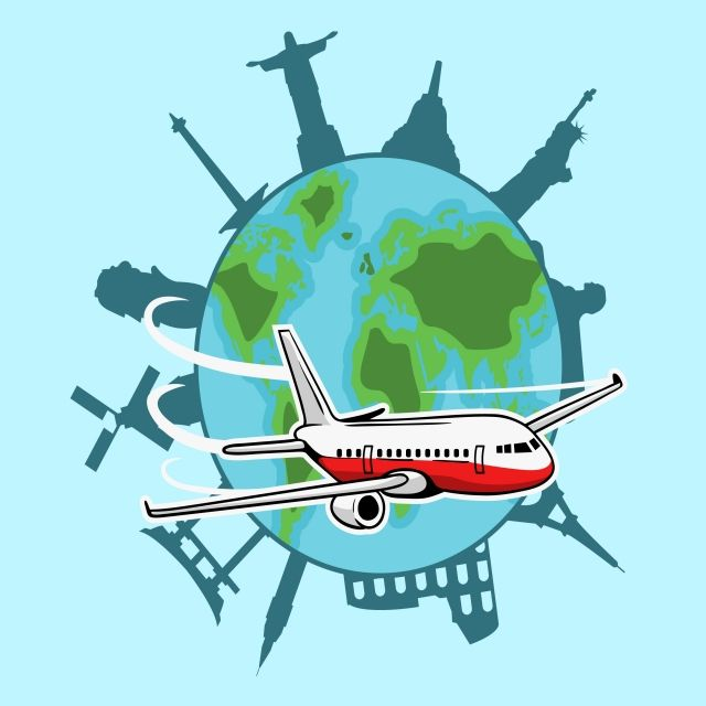 Airplane Flying Around The World Fly Around The World Around The Worlds Airplane Flying