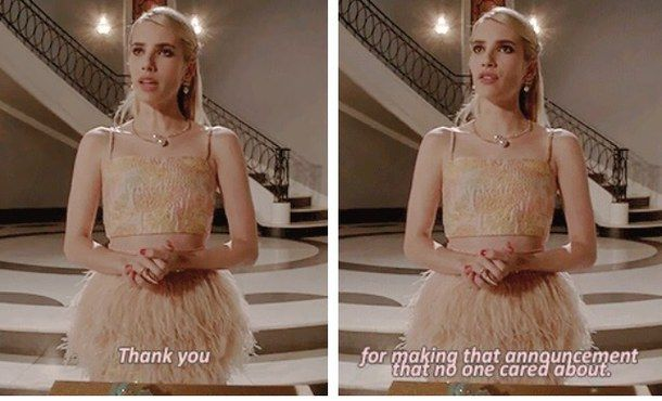 emma roberts, scream queens, chanel oberlin, scream queens quotes ...